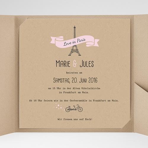 Hochzeitskarten Quadratisch - Love in Paris 38097 test