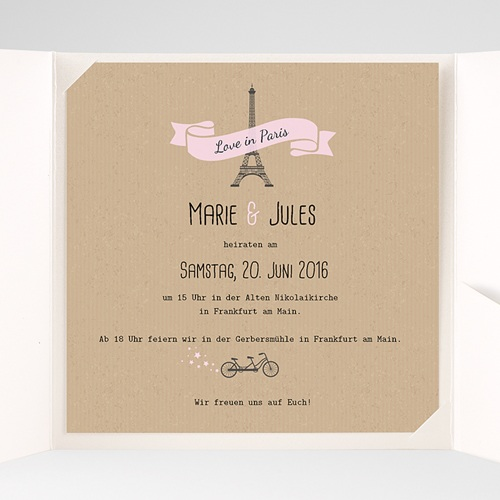 Hochzeitskarten Quadratisch - Love in Paris 38098 test