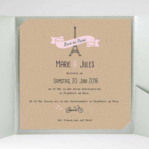 Hochzeitskarten Quadratisch - Love in Paris 38099 test