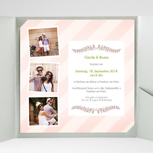 Hochzeitskarten Quadratisch - Streifendesign 38107 thumb