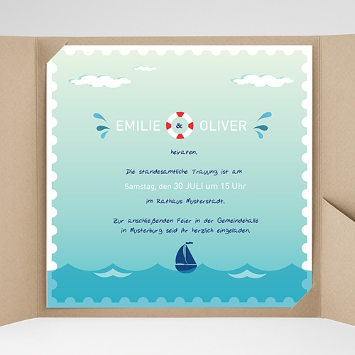 Hochzeitskarten Quadratisch - An Bord 38149 preview