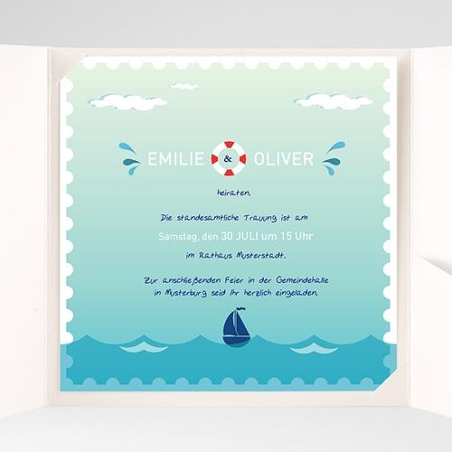 Hochzeitskarten Quadratisch - An Bord 38150 preview