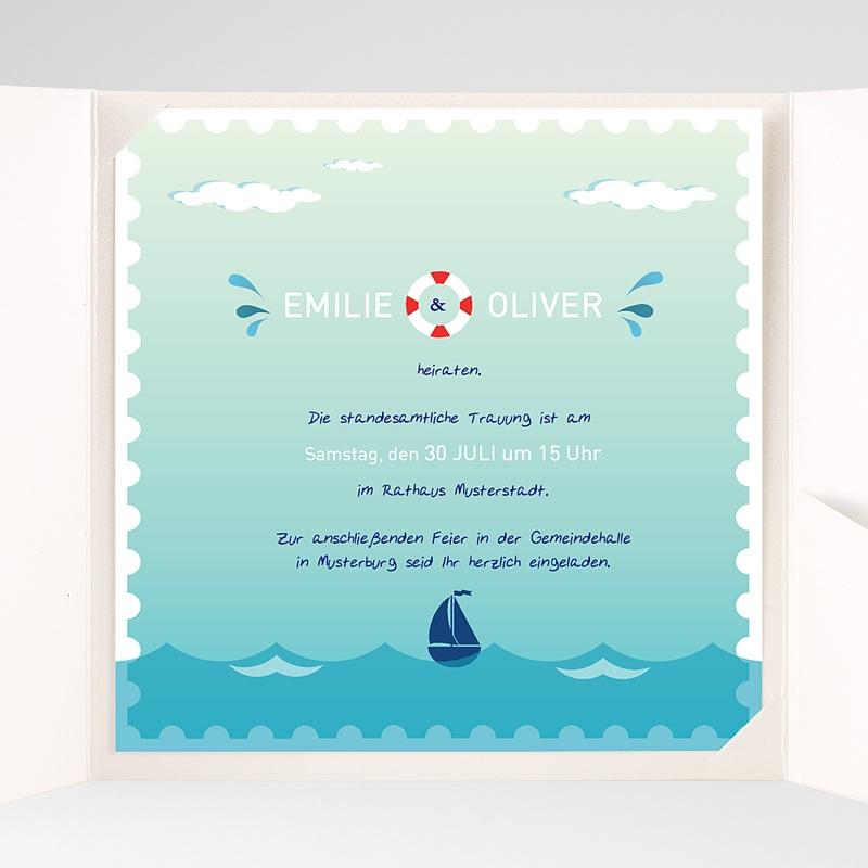 Hochzeitskarten Quadratisch An Bord pas cher