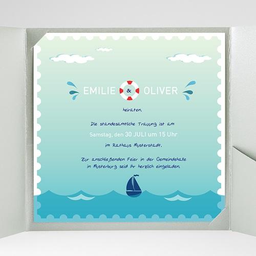 Hochzeitskarten Quadratisch - An Bord 38151 preview