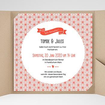 Hochzeitskarten Quadratisch - Origami - 0