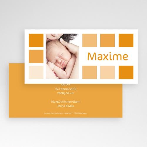 Geburtskarten für Mädchen - Orangetöne 3817 preview