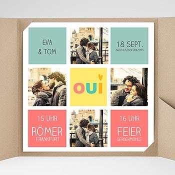 Hochzeitskarten Quadratisch - Gute Laune - 0