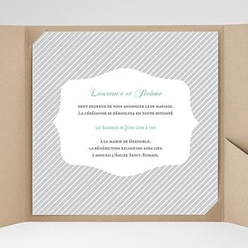 Hochzeitskarten Quadratisch - Schwarz-weiss gestreift - 0