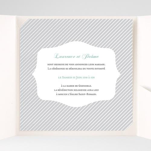 Hochzeitskarten Quadratisch Schwarz Weiss Gestreift Carteland De