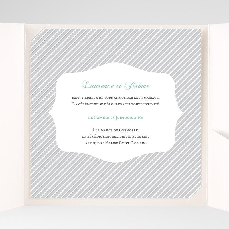 Hochzeitskarten Quadratisch Schwarz-weiss gestreift pas cher