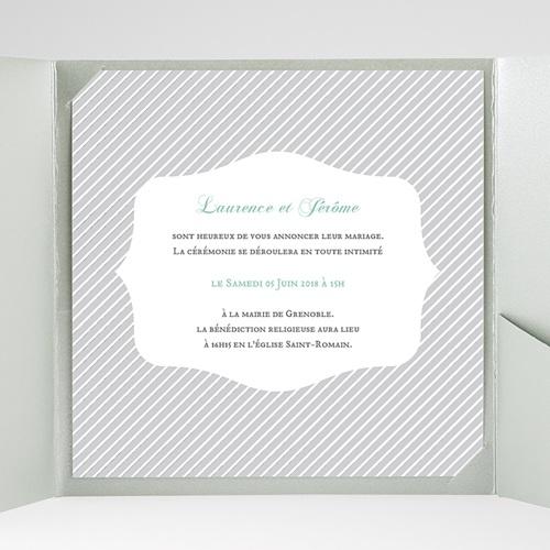 Hochzeitskarten Quadratisch Schwarz-weiss gestreift gratuit