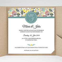 Karten Hochzeit Blumen Frühling