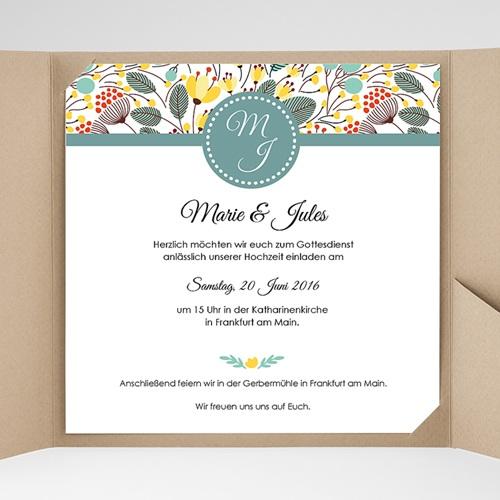 Hochzeitskarten Quadratisch - Blumen Frühling 38209 preview