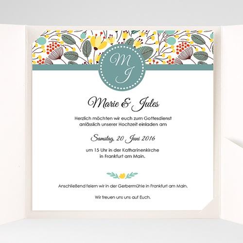 Hochzeitskarten Quadratisch - Blumen Frühling 38210 preview