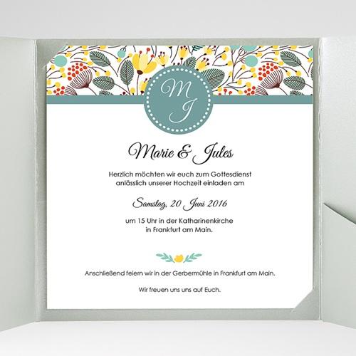 Hochzeitskarten Quadratisch - Blumen Frühling 38211 preview
