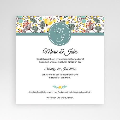 Hochzeitskarten Quadratisch - Blumen Frühling 38212 preview