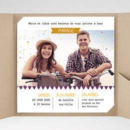 Hochzeitskarten Quadratisch - Konfetti - 0