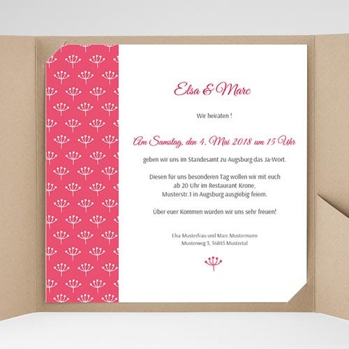 Hochzeitskarten Quadratisch - Himbeerfarben 38249 preview