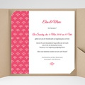 Hochzeitskarten Quadratisch - Himbeerfarben 38249 test