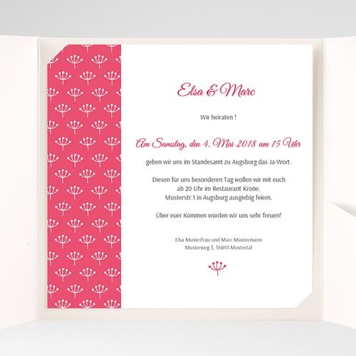 Hochzeitskarten Quadratisch - Himbeerfarben 38250 test