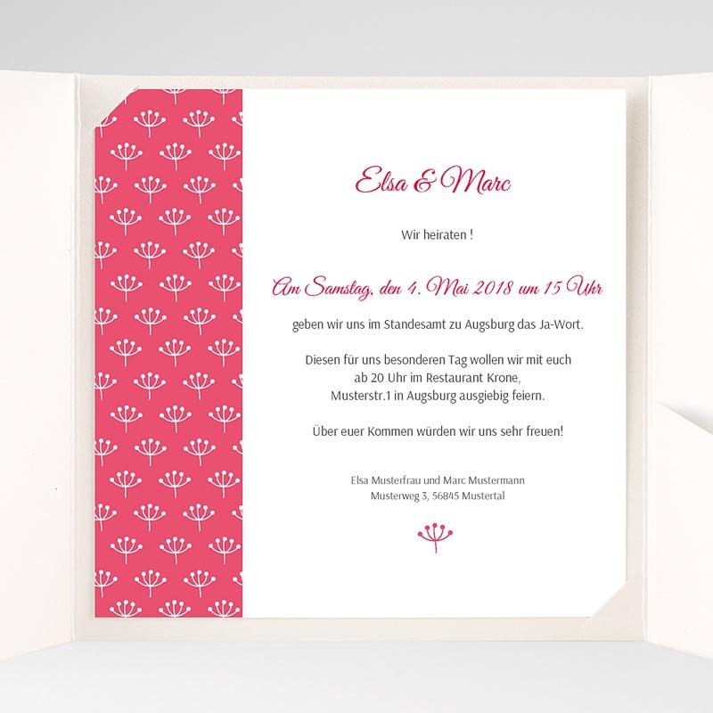 Hochzeitskarten Quadratisch Himbeerfarben pas cher