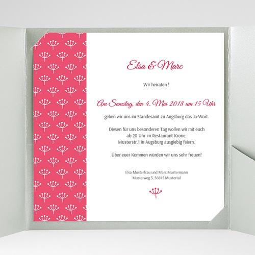 Hochzeitskarten Quadratisch - Himbeerfarben 38251 preview