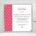 Hochzeitskarten Quadratisch - Himbeerfarben 38251 test