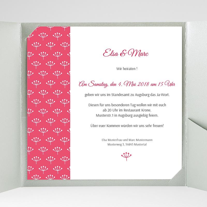 Hochzeitskarten Quadratisch Himbeerfarben gratuit
