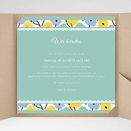 Hochzeitskarten Quadratisch - Blumendeko - 0