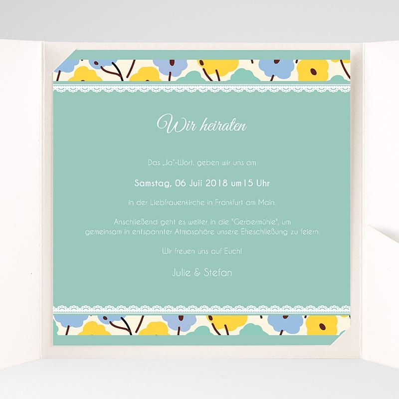 Hochzeitskarten Quadratisch Blumendeko pas cher