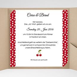 Hochzeitskarten Quadratisch Rote