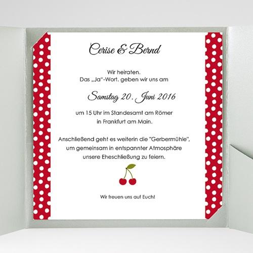 Hochzeitskarten Quadratisch - Rote 38291 preview
