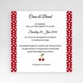 Hochzeitskarten Quadratisch - Rote 38292 test