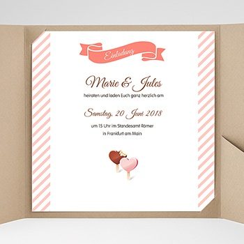 Hochzeitskarten Quadratisch Nelly