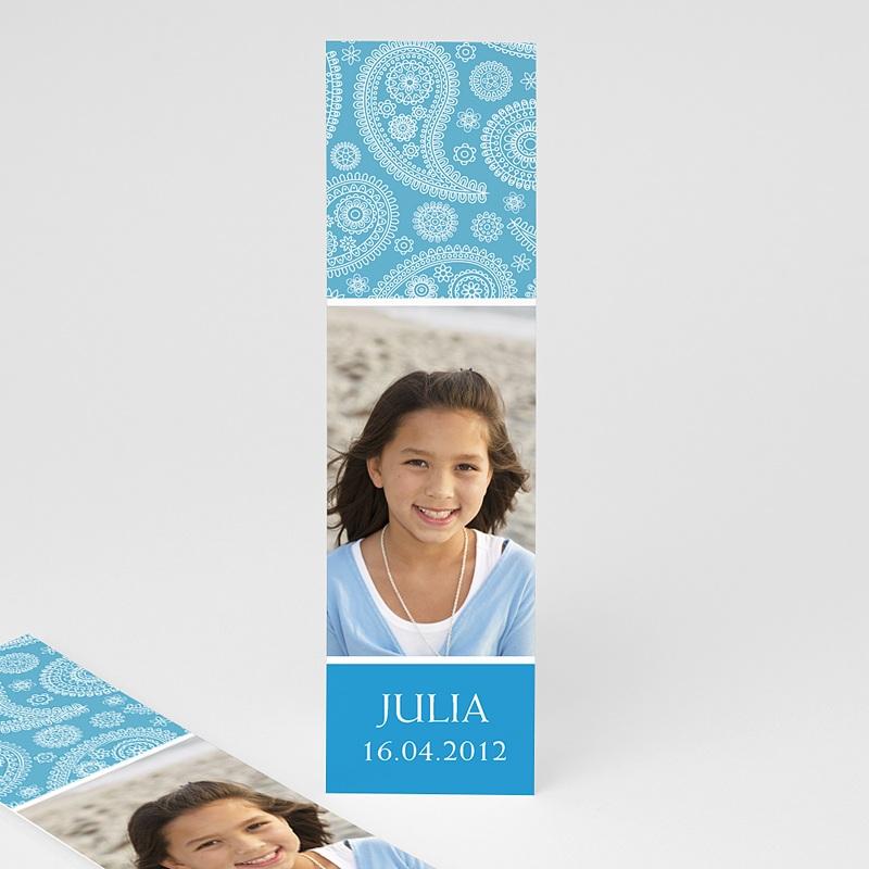 Personalisierte Lesezeichen Ornament in Blau