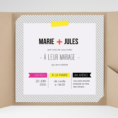 Hochzeitskarten Quadratisch - Neon 38305 preview