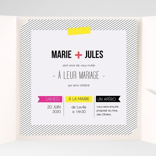Hochzeitskarten Quadratisch - Neon 38306 preview