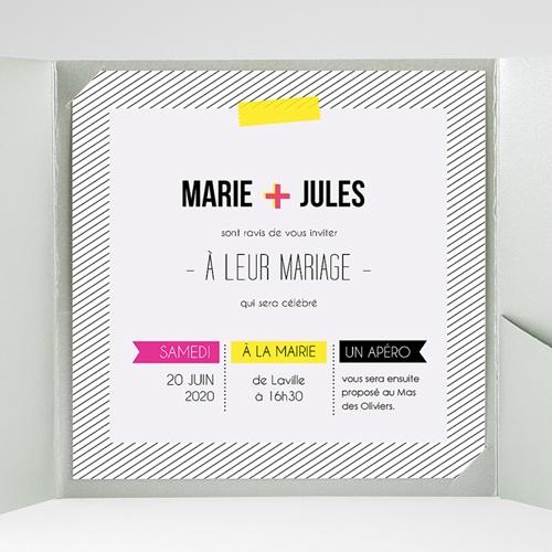 Hochzeitskarten Quadratisch - Neon 38307 preview