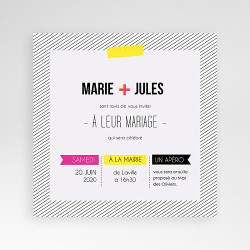 Hochzeitskarten Quadratisch - Neon 38308 preview