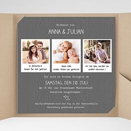 Hochzeitskarten Quadratisch - Fotoroman - 0