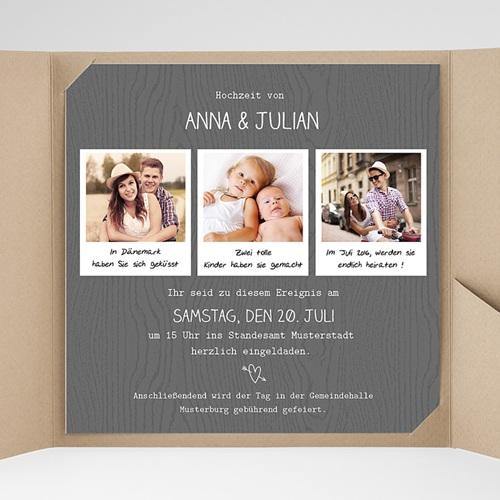 Hochzeitskarten Quadratisch - Fotoroman 38313 test