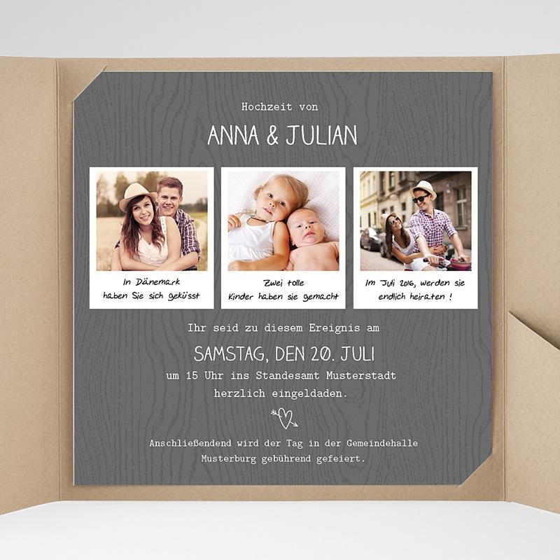 Hochzeitskarten Quadratisch Fotoroman