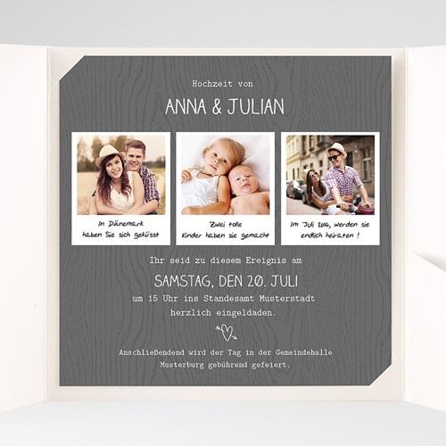 Hochzeitskarten Quadratisch - Fotoroman 38314 preview