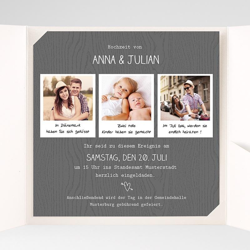 Hochzeitskarten Quadratisch Fotoroman pas cher