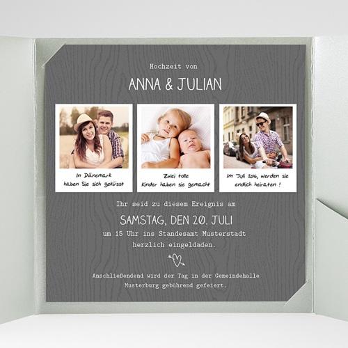 Hochzeitskarten Quadratisch Fotoroman gratuit