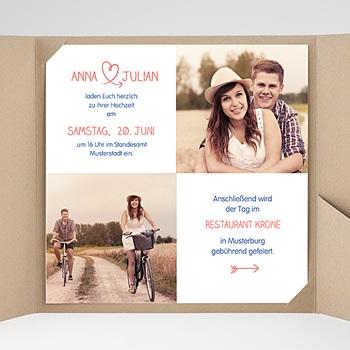 Hochzeitskarten Quadratisch - Verspielt - 0