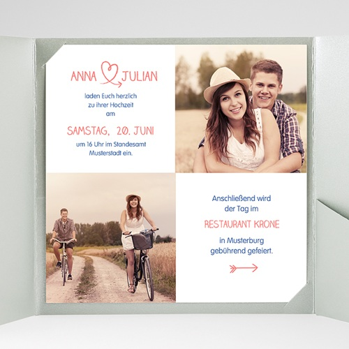 Hochzeitskarten Quadratisch - Fusion 38323 preview