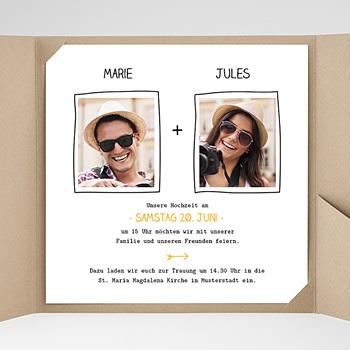 Hochzeitskarten Quadratisch - Love - 0