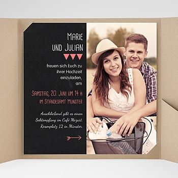 Hochzeitskarten Quadratisch - Puristisch - 0