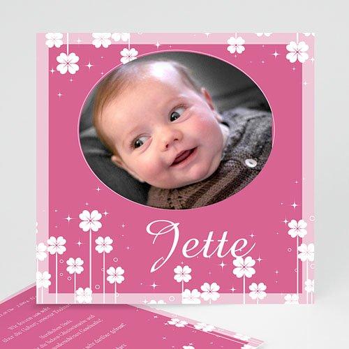 Geburtskarten für Mädchen - Kleine Blume 3836